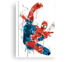 Spiderman Splatter Paint Canvas Print
