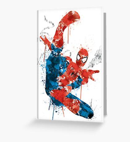 Spiderman Splatter Paint Greeting Card