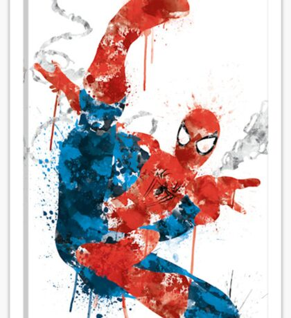 Spiderman Splatter Paint Sticker