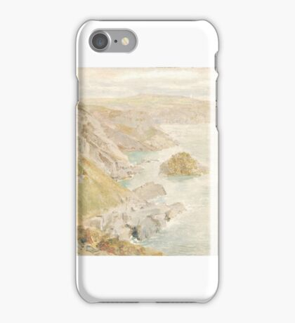 William Trost Richards (American, ) - Coast at Land's End, Cornwall iPhone Case/Skin