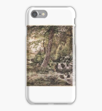 William Trost Richards (American, ). Landscape with Stream and Road, Chester County, ca. . iPhone Case/Skin