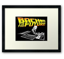 Bach To The Future. Framed Print
