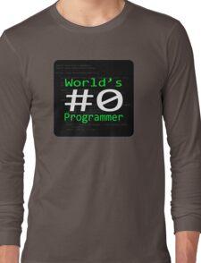 World's #0 Programmer Long Sleeve T-Shirt