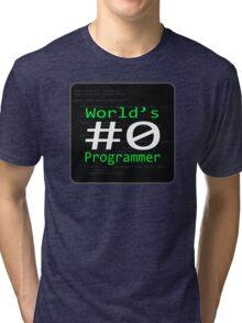 World's #0 Programmer Tri-blend T-Shirt