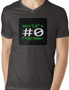 World's #0 Programmer Mens V-Neck T-Shirt