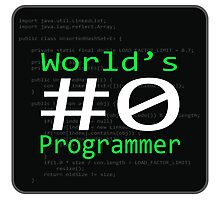 World's #0 Programmer Photographic Print