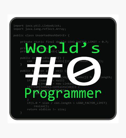 World's #0 Programmer Photographic Print