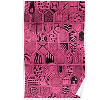 Doodles in Pink Poster