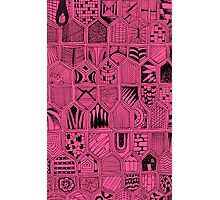 Doodles in Pink Photographic Print