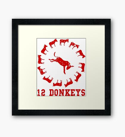 12 Donkeys Framed Print