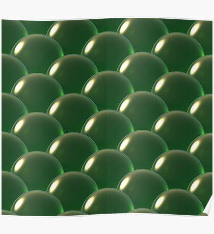 green crystal ball overlap pattern  Poster