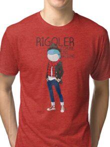 Rigoler Comme Une Baleine Tri-blend T-Shirt