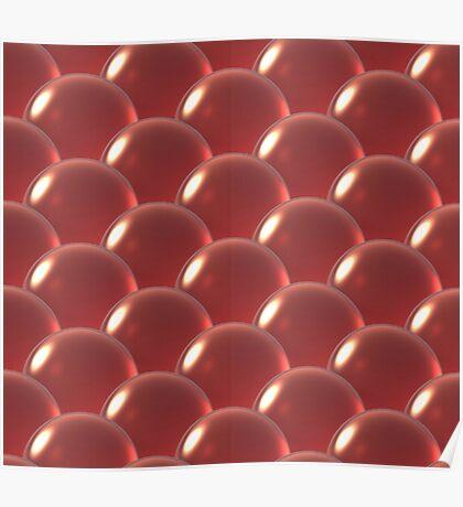 orange crystal ball overlap pattern  Poster