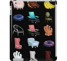 Glitch Furniture Armchairs Collection iPad Case/Skin