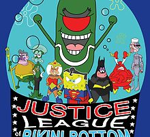 Justice League of Bikini Bottom by jbrinkleyart