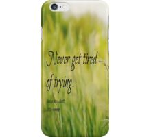 Try Louisa May Alcott iPhone Case/Skin