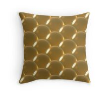 yellow crystal ball overlap pattern Throw Pillow