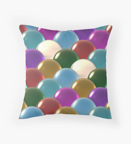 crystal ball overlap pattern  Throw Pillow