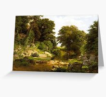 William Trost Richards painting is hand painted by an Ocean's Bridge Greeting Card