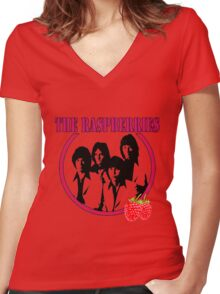 The Raspberries Women's Fitted V-Neck T-Shirt