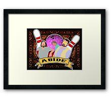 Abide. Framed Print