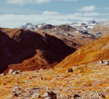 Scandinavia - Norwegian National Park Landscape Shot on Film Sticker