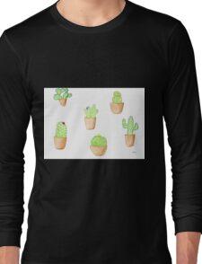 cactus doodles Long Sleeve T-Shirt