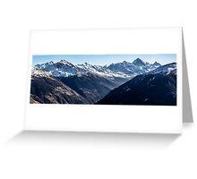 Thyon  Day Panorama 2 Greeting Card