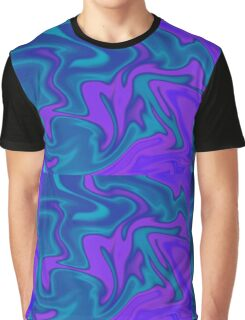 Fun, Blue, Green Abstract  Graphic T-Shirt
