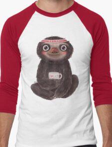 Sloth I♥lazy Men's Baseball ¾ T-Shirt