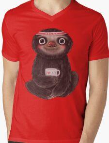 Sloth I♥lazy Mens V-Neck T-Shirt