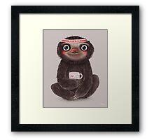 Sloth I♥lazy Framed Print