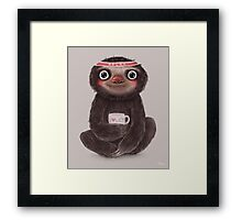 Sloth I♥lazy Framed Print