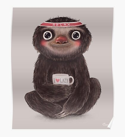Sloth I♥lazy Poster