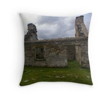 Ruined Cottage at Cashelnagor, County Donegal, Ireland Throw Pillow