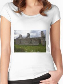Ruined Cottage at Cashelnagor, County Donegal, Ireland Women's Fitted Scoop T-Shirt