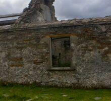 Ruined Cottage at Cashelnagor, County Donegal, Ireland Sticker