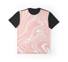 Marble effect liquid lines. Graphic T-Shirt