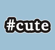 Cute - Hashtag - Black & White Kids Tee
