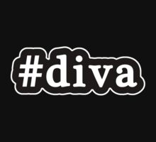Diva - Hashtag - Black & White by graphix