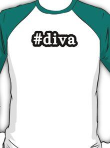Diva - Hashtag - Black & White T-Shirt