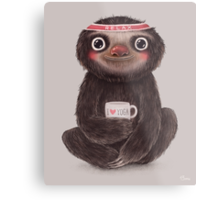 Sloth I♥yoga Metal Print