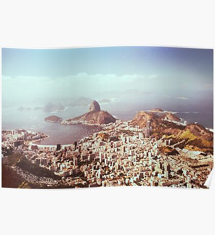 Rio de Janeiro - View on Sugarloaf Shot on Film (Brazil) Poster