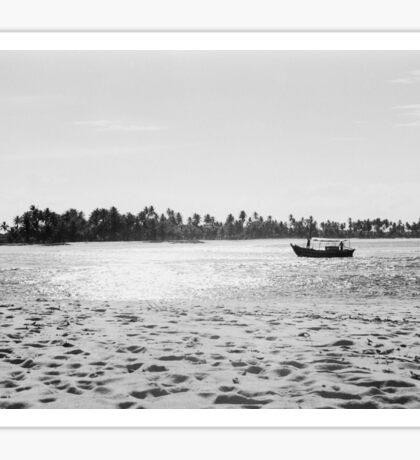 Fishing Boat in Bahia Brazil Shot on Film Sticker