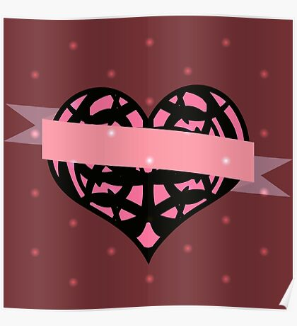 Heart and Ribbon Poster
