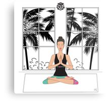 Yoga Girl.. Metal Print