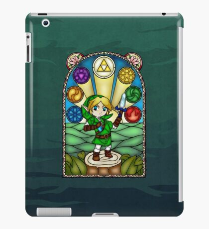 Ocarina of Time Stained Glass iPad Case/Skin