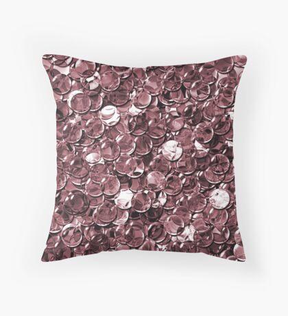crystal red balls mix transparent Throw Pillow