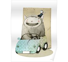 Monster In A Car Poster