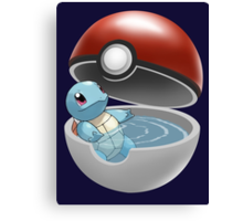 Squirtle Pokeball Canvas Print